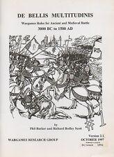 DE BELLIS multitudinis-Antico Medievale battaglie 3000 A.C. - 1500 ad-WARGAMES