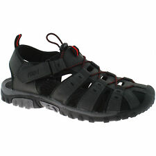 PDQ Mens Toggle & Velcro Summer Comfort Trail Sports Sandals Grey Size UK 10