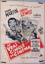VINTAGE MOVIE POSTER 1957 FILM UN VRAI CINGLE DE CINEMA - HOLLYWOOD OR BUST