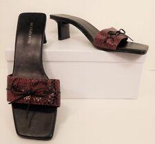 Liz Claiborne Red Black Snake Print High Heel Dress Sandals Shoes 8.5 M (S00105)