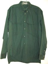THIERRY MUGLER GREEN SHIRT SNAP CLOSURES Vintage 1980's SIZE 50 ITALIAN MEDIUM