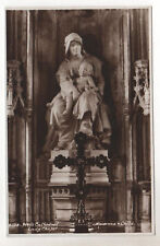 Madonna & Child - Wells Cathedral - RP Postcard c1950