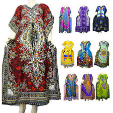 New Women Kaftan Boho Maxi Dress Taj Mahal Lounger Nightwear Fashion Robes Gowns