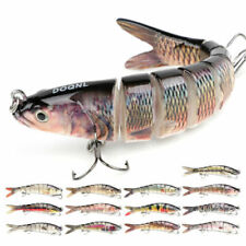 8 Segment Multi Jointed Fishing Lures Fishing Bait Crankbait Hooks Swimbait