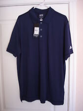 ADIDAS Golf Shirt Polo XL NAVY/WHITE Marshall Faulk Celebrity Championship NWT