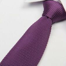 New High Quality Men's Fashion Tie Knit Knitted Tie Slim Skinny Woven UK Seller
