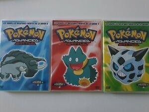 Pokémon LOT 3 DVD Pokémon advanced battle saison 9 en français voir les photos .
