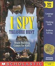 I Spy Treasure Hunt PC CD-ROM Scholastic Parents Guide Ages 6-10 Brain Games EXC