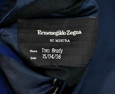 Ermenegildo Zegna Worn by Tom Brady Patriots QB 42L Su Misura NFL Bespoke Owned