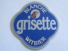 Beer Coaster ~ Brasserie St FEUILLIEN Grisette Blanche Witbier ~ Le Roeulx, BE