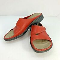 Merrell Women's Size 8 Tetra Trove Hook And Loop Red Slip-on Slide Sandals