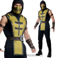 CL895 Mens Mortal Kombat X Scorpion Ninja Halloween Hero Fancy Dress Up Costume