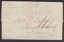 IRELAND, Stampless Cover, London to Carlow, March 7, 1835