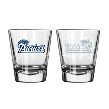New England Patriots Satin Etch Shot Glass - 2 Pack [NEW] NFL Drink Bar Cup Beer
