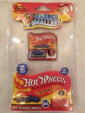 "ERROR Card Hot Wheels World's Smallest Mini BLUE Roger Dodger 1"" Diecast"