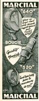 Publicité ancienne accessoires automobile Marchal 1951 issue de magazine