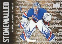2018-19 Upper Deck Stonewalled #SW-20 Henrik Lundqvist New York Rangers