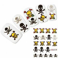 Nagel Sticker Nail Art Tattoo Totenkopf Halloween Skull Aufkleber Neu!