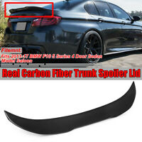 For BMW 5 Series F10 M5 PSM Style Real Carbon Fiber Boot Trunk Lip Spoiler