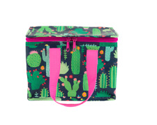 Sass & Belle Cactus Botanical Insulated Lunch Cool Snack Bag School Lunchbox