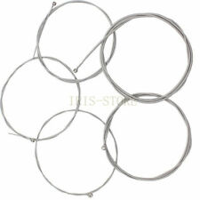 5PCS Stainless Steel Silver Plated Gauge Strings for 5-String Guitar Bass