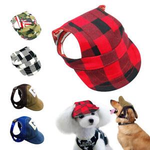 Dog Travel Baseball Cap Puppy Outdoor Pet Sports Sun Hat Summer Canvas Visor S-L