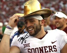 Baker Mayfield Oklahoma Sooners Football Signed 8X10 Photo Rp Beat Texas Cotton