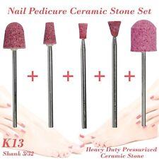 Nail Pedicure Condorum Stone Ceramic Bit Drill Bur Cuticle Remove 3/32 Set K13