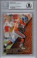 Terrell Davis Denver Broncos 1996 Pinnacle Select Signed Card Beckett BAS