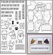 My Favorite Things BB LUCKY DOG Clear Stamps & Die-namics Steel Die Set MFT