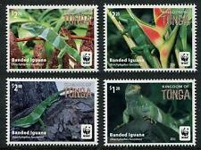 WWF White-banded Iguana mnh set of 4 stamps 2016 Tonga