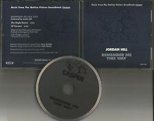 Casper JORDAN HILL remember me w/ RARE DAVID FOSTER REMIX PROMO DJ CD Single 95