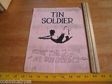 Tin Soldier 1980s Original Punk Rock concert poster Big Johns Ca
