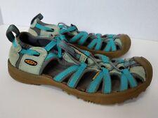Keen kids Whisper Sport Sandal Size 6? Teal Aqua Waterproof Washable Great Cond
