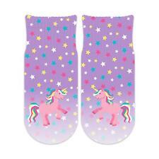 Sublime Designs Kids Fun Ankle Socks - Unicorn Faces