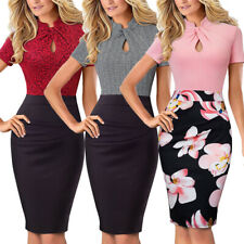 Women's Bodycon Summer Church Dresses Elegant Formal Business Work Casual Dress