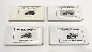 HO HOn3 HOn30 Four Jordan 1920s Car Kits