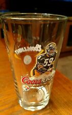 Coors Light Limited Edition Pittsburgh Steelers JACK HAM Bar Glass MAN CAVE Rare