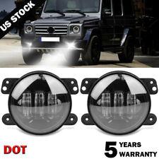Pair 4inch Round Led Fog Lights Driving Lamp for Jk Tj Cj Jeep Wrangler 97-17