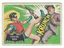 1966 TOPPS BATMAN # 30 FIGHTING BACK - CANADIAN BLACK BAT CARD - LOOK !!!!