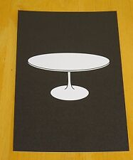MODERN ICONIC DESIGN POSTCARD ~ TULIP DINING TABLE ~ EERO SAARINEN, KNOLL 1957