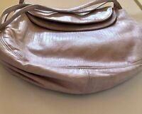 Vintage 1970's Halston Brand Soft Lavender Leather Shoulder Bag
