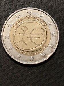 Pièce 2 euro rare UEM 1999-2009 FRANCE
