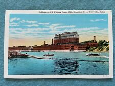 Hollingsworth & Whitney Paper Mills, Kennebec River, Waterville Maine Postcard