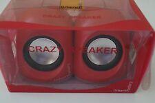 Urban factory Crazy Speakers Multimedia-Boxen für Computer, USB 2.0, 2 x 3 W,red
