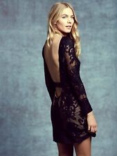 NWT For Love and Lemons  open back mini lace baroque print dress size M - $248