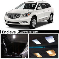 19x White Interior LED Lights Package for  2008-2016 Buick Enclave