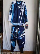 MSR  NXT men's adult off road gear set combo,pants 34, jersey MED blue