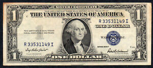 AMERICA:  1935  PAPER BANKNOTE $1 DOLLAR CIRCULATED CONDITION