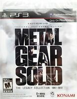 🔥Metal Gear Solid: The Legacy Collection 1987-2012 (PS3)  Brand New  SEALED